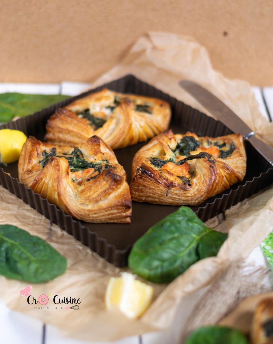 feuilletés au épinards saumon et boursin