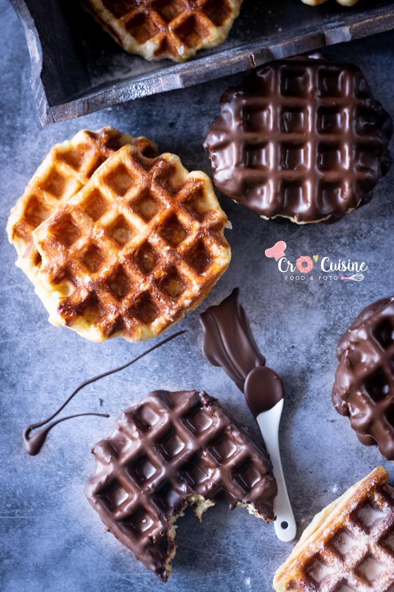 Gaufres Liégeoises au sucre est une spécialité de Liège appelée également wafe ou wallon