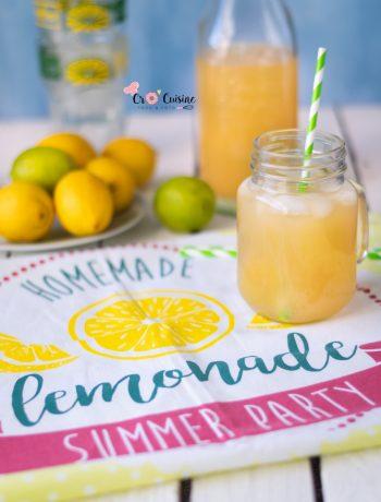 Citronnade citron citron vert à déguster avec des glaçons