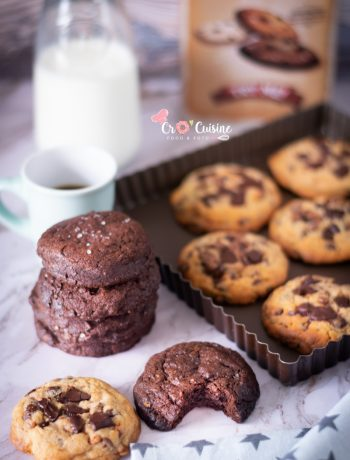cookie tout chocolat à la fleur de sel