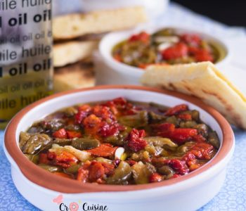 Une salade de poivrons agrémentée d'ail et d'huile d'olive. Idéale pour les barbecues party
