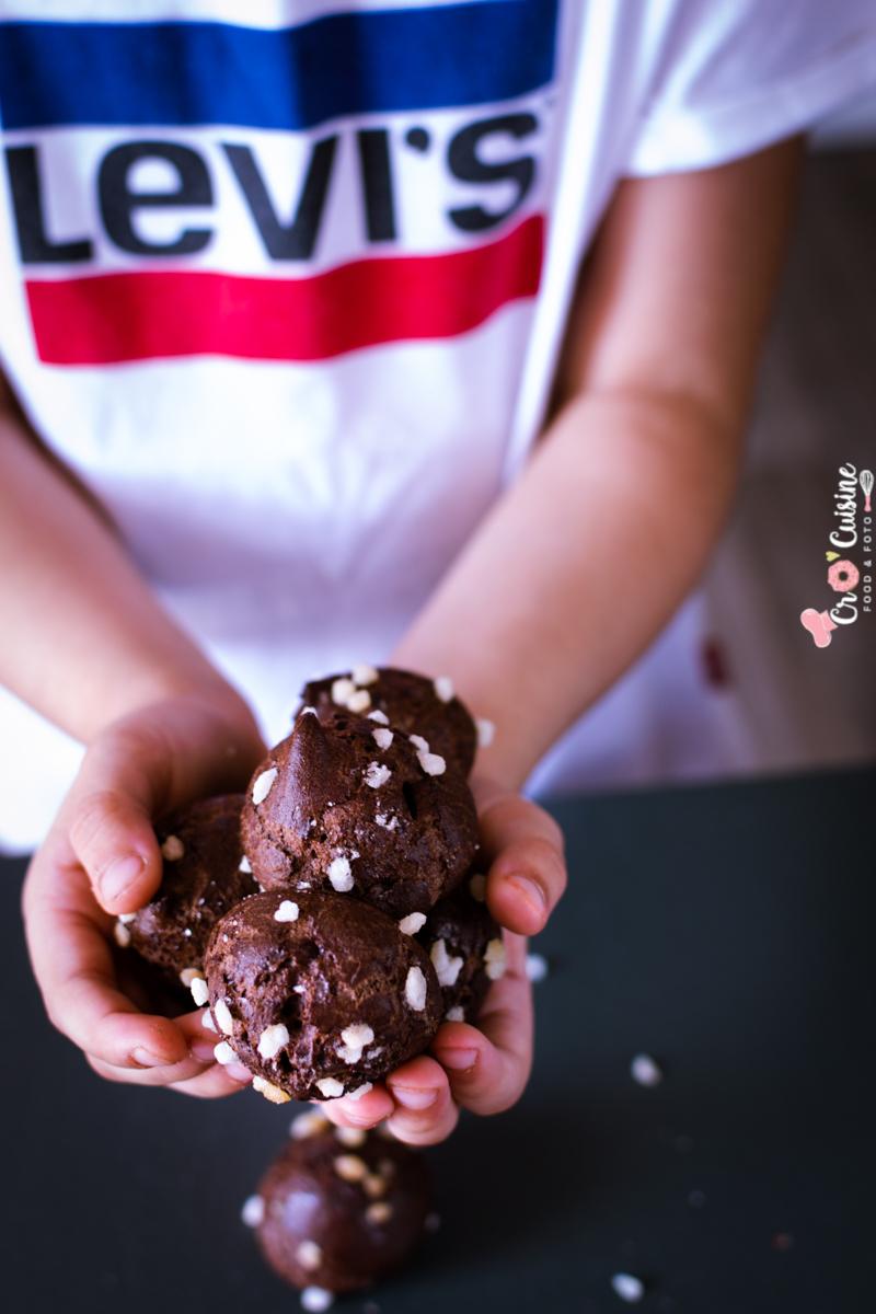 les chouquettes aux chocolat pour démarrer la rentrée, délicieuses et légères