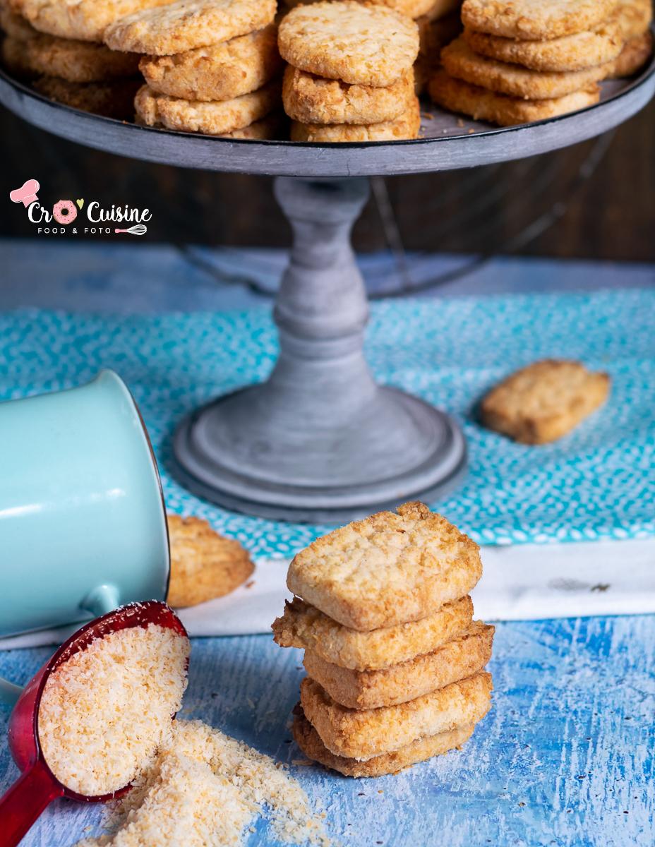 Des biscuits sans œuf à la noix de coco.