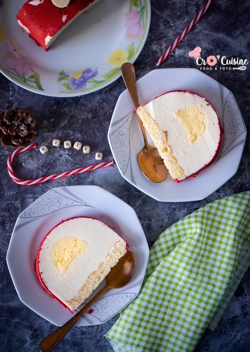 une bûche citron légère pour terminer un repas en toute simplicité