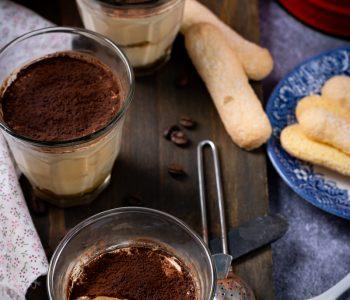 Verrine café tiramisu sans crème aux œufs idéal pour un plaisir gourmand