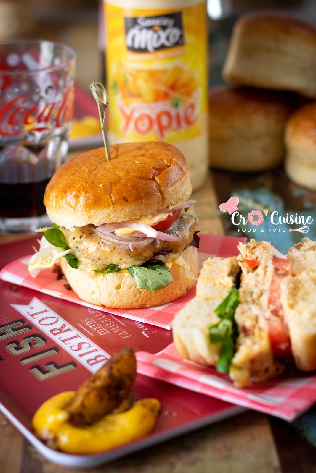 un délicieux burger de saumon frais pour vous