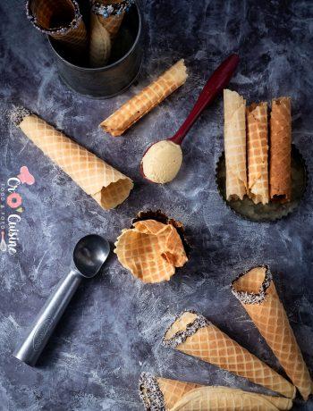 de délicieux cornets fait maison pour rafraîchir et faire croustiller vos goûters pendant l'été.