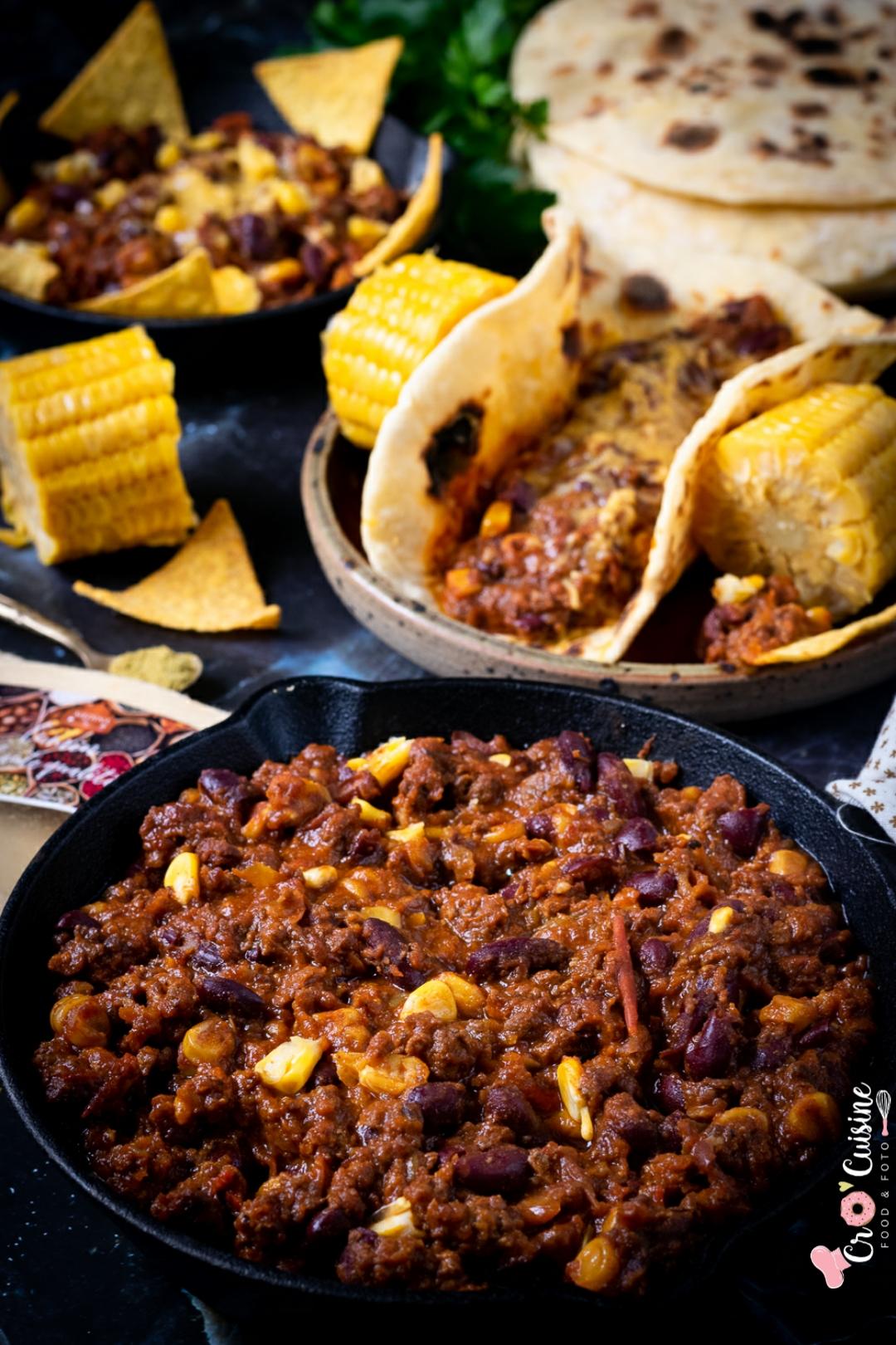 Un délicieux chili corn carne texane pour faire voyager vos convives à table. Idéal pour un thème tex-mex réussi