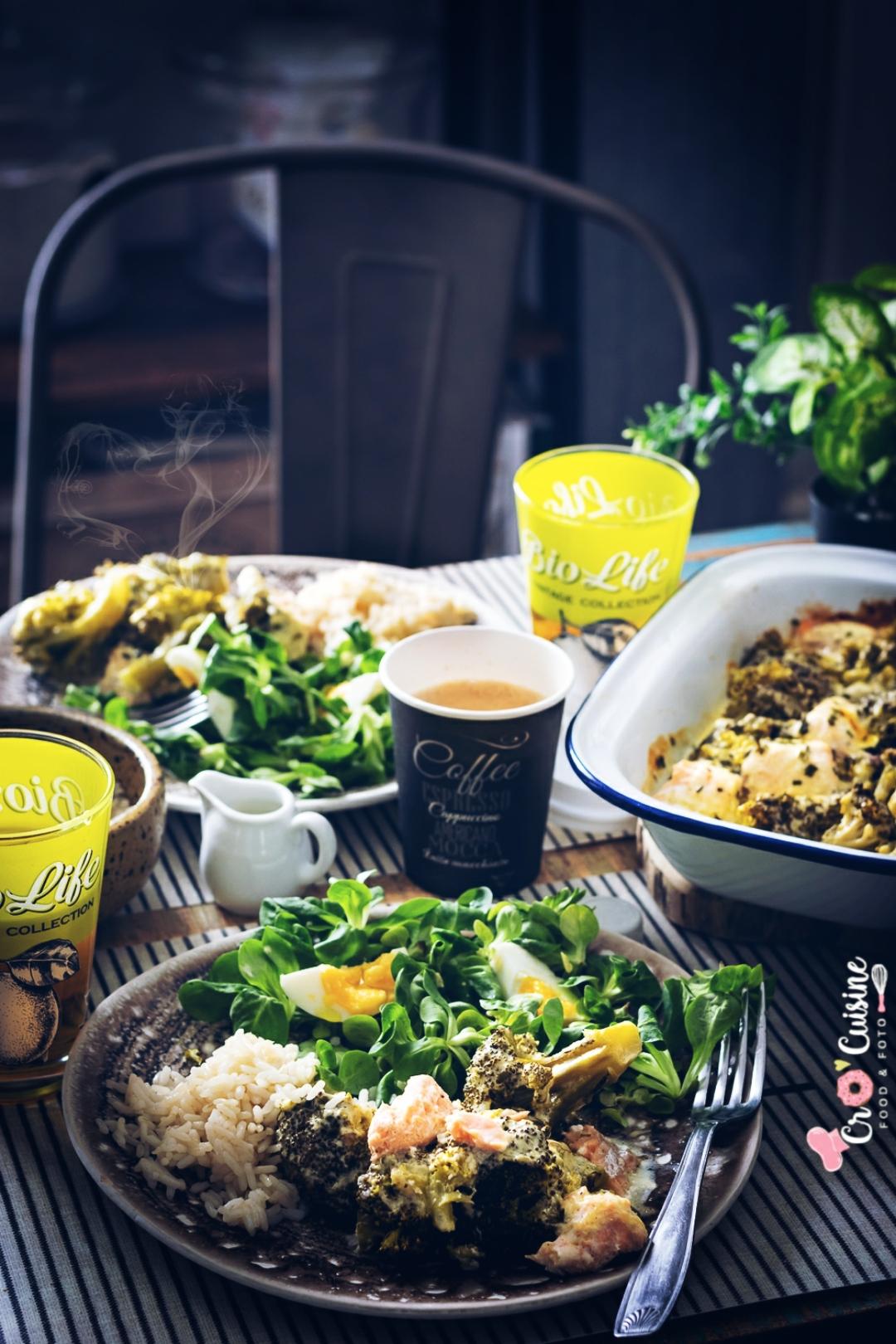 Un délicieux gratin citronné de brocolis au saumon idéal pour accompagner avec du riz, des pommes de terre vapeurs ou du ebly. Parfait pour petits et grands gourmands.